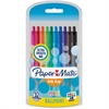 Paper Mate InkJoy Retractable Mini Pens - 1 mm Point Size - Assorted - Transparent Barrel - 10 / Pack