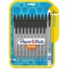 Paper Mate InkJoy 100 RT Pens - Medium Point Type - 1 mm Point Size - Black - Translucent Barrel - 20 / Pack