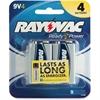 Rayovac Alkaline 9 Volt Battery - 9V - Alkaline - 9 V DC - 36 / Carton