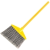 "Rubbermaid Commercial Angle Broom - 1"" Diameter Handle - 6 / Carton - Polypropylene Bristle, Metal Handle, Vinyl Handle - Gray"
