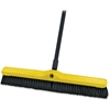 "Rubbermaid Commercial Med. Sweep Plastic Foam Block - 3"" Length Bristles - 12 / Carton - Polypropylene Bristle, Tampico Bristle, Plastic Foam Block - Black"