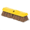 "Rubbermaid Commercial Rugged Deck Brush - 2"" Length Bristles - 6 / Carton - Plastic Block, Palmyra Bristle - Yellow"