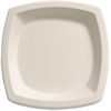 "Bare Sugar Cane Plates - 6.70"" Diameter Plate - Sugarcane - Microwave Safe - Off White - 1000 Piece(s) / Carton"