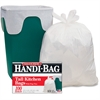"Webster Handi-Bag Flap Tie Tall Kitchen Bags - 10 gal - 23.50"" Width x 29"" Length x 0.60 mil (15 Micron) Thickness - White - Hexene Resin - 600/Carton - 100 Per Box - Home, Office, Kitchen"