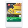 "Avery Professional-grade ID Labels - Permanent Adhesive - 40 Label(s)"" - 1.25"" Width x 3.50"" Length - 4 / Sheet - Rectangle - White - 10 Sheet"