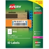 "Avery Durable ID Labels - Permanent Adhesive - ""3.25"" Width x 8.38"" Length - 3 / Sheet - Rectangle - Laser - White - Polyester - 150 / Box"