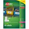 "Avery Durable ID Labels - Permanent Adhesive - 3000 Label(s)"" - 0.67"" Width x 1.75"" Length - 60 / Sheet - Rectangle - Laser - White - Polyester - 50 Sheet"