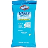 Clorox 3-in-1 Radiant Clean Glass Wipes - Wipe - Radiant Clean Scent - 32 / Packet - 12 / Carton - White
