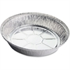 "Genuine Joe Aluminum Food Container Set - 9"" Diameter Food Container, Lid - Aluminum - Cooking, Serving - Silver - 500 Piece(s) / Carton"