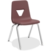 "Lorell 18"" Seat-height Stacking Student Chair - Four-legged Base - Wine - Polypropylene - 18.8"" Width x 20.5"" Depth x 30"" Height"