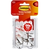 Command Strips 1/2 lb Small Wire Hooks - 8 oz (226.8 g) Capacity - for Utensil - Plastic - White - 9 / Pack