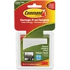 Command Picture Value Pack Hanging Strips - Rubber Resin Backing - Residue-free - 6 / Pack - White