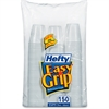 Hefty Easy Grip Bathroom Cups - 150 - 3 fl oz - 1800 / Carton - White - Plastic - Bathroom