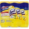 Lysol Disinfecting Wipes 3-pack - Wipe - Lemon Scent - 35 / Canister - 12 / Carton - White