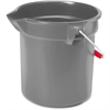 "Rubbermaid Commercial Brute 10-qt Utility Bucket - 10 quart - Steel, High-density Polyethylene (HDPE) - 10.2"" - Gray, Nickel, Chrome"