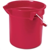 "Rubbermaid Commercial Brute 10-qt Utility Bucket - 10 quart - Steel, High-density Polyethylene (HDPE) - 10.2"" - Red, Nickel, Chrome"