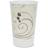 Symphony Cold Paper Cups - 50 - 16 fl oz - 1000 / Carton - White, Brown, Green - Wax Paper - Cold Drink, Milk Shake, Smoothie