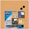 "The Board Dudes Canvas Style Magnetic Cork Tile - 17"" Height x 17"" Width - Light Brown Cork Surface - 1 Each"