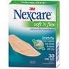 "Nexcare Soft 'N Flex Bandages - 1.13"" x 3"" - 30/Box - Tan - Fabric"