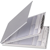 "OIC Top Loading Aluminum Form Holders - Storage for 30 x Document - Top Opening - 5.66"" x 9.50"" - Aluminum"