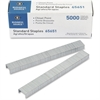 "Business Source Chisel Point Standard Staples - 210 Per Strip - Standard - 1/4"" Leg - 1/2"" Crown - Holds 30 Sheet(s) - for Paper - Chisel Point - Silver - Galvanized Iron - 5 / Pack"