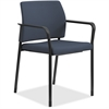 "HON Fixed Arms Fabric Guest Chair - Fabric Cerulean Seat - Fabric Cerulean Back - Steel Textured Black Frame - Four-legged Base - 23.3"" Width x 21.3"" Depth x 31.5"" Height"
