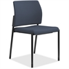 "HON Accommodate Armless Fabric Guest Chair - Fabric Cerulean Seat - Fabric Cerulean Back - Steel Textured Black Frame - Four-legged Base - 23.3"" Width x 21"" Depth x 32"" Height"