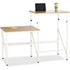 "Safco Bi-Level Stand/Sit Desk - Rectangle Top - 57.50"" Table Top Width x 24"" Table Top Depth x 0.75"" Table Top Thickness - 50"" Height - Assembly Required - White"