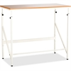 "Safco Laminate Tabletop Standing-Height Desk - Rectangle Top - 48"" Table Top Width x 24"" Table Top Depth - 50"" Height - Assembly Required - White"