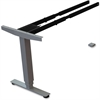 "Lorell Sit/Stand Desk Silver Third-leg Add-on Kit - 275 lb Weight Capacity x 24"" Width x 44"" Depth x 26.5"" Height - Silver"