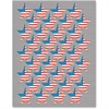 "Teacher Created Resources Flag Stars Foil Stickers - Election Theme/Subject - Patriotic Stars - Self-adhesive - Acid-free - 0.75"" Diameter - Blue, Red, White - 108 / Pack"