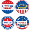 "Teacher Created Resources I Voted Today Wear'Em Badges - Encouragement Theme/Subject - I Voted Today - Self-adhesive - 2.38"" Diameter - Red, White, Blue - 32 / Pack"