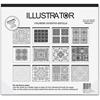 "Aurora Illustrator Coloring Deskpad Refills - 18"" x 16.50"" - Black/White Paper - Recycled - 1Each"