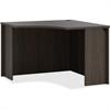 """Basyx by HON Espresso BL Laminate Desk Ensemble - 36"""" x 42"""" x 29"""", Top - Finish: Espresso Top, Thermofused Laminate (TFL) Top"""