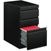 "Basyx by HON Black B/B/F Mobile Pedestal File - 15"" x 20"" x 28"" - 3 x File Drawer(s), Box Drawer(s) - Material: Steel Frame - Finish: Black"