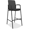 "Basyx by HON Armed Café Stool - Foam Seat - Steel Frame - Black - 20.5"" Width x 23.8"" Depth x 49.8"" Height"