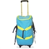 "Smart Travel/Luggage Case (Rolling Backpack) for 17"" Notebook, Travel Essential - Blue, Yellow - Nylon - Shoulder Strap - 33"" Height x 12"" Width x 15"" Depth"