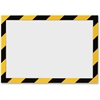Durable Twin-color Border Self-adhs Security Frame - Horizontal, Vertical - Self-adhesive, Flexible, Magnetic, Dual-sided - Yellow, Black