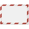 Durable Twin-color Border Self-adhs Security Frame - Horizontal, Vertical - Self-adhesive, Flexible, Magnetic, Dual-sided - Red, White