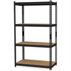 "Hirsh 2,300 lb Capacity Iron Horse Shelving - 4 Compartment(s) - 60"" Height x 36"" Width x 18"" Depth - Recycled - Black - Steel, Particleboard - 1Each"