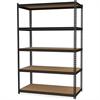 "Hirsh 2,300 lb Capacity Iron Horse Shelving - 5 Compartment(s) - 72"" Height x 36"" Width x 18"" Depth - Recycled - Black - Steel, Particleboard - 1Each"