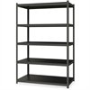 """Hirsh 3,200 lb Capacity Iron Horse Shelving - 5 Compartment(s) - 72"""" Height x 48"""" Width x 24"""" Depth - Recycled - Gray, Black Shelf - Steel, Particleboard - 1Each"""
