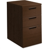 "HON 10500 Srs Mocha Laminate Furniture Components - 15.8"" x 22.8"" x 28"" - 3 x Box Drawer(s), File Drawer(s) - Single Pedestal - Flat Edge - Material: Wood - Finish: Mocha Laminate, Thermofused Laminat"