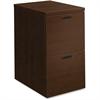 "HON 10500 Srs Mocha Laminate Furniture Components - 15.8"" x 22.8"" x 28"" - 3 x File Drawer(s) - Single Pedestal - Flat Edge - Finish: Mocha Laminate, Thermofused Laminate (TFL)"