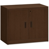 "HON 10500 Srs Mocha Laminate Furniture Components - 36"" x 20"" x 29.5"", Edge, 36"" x 20"" Work Surface - Drawer(s)2 Door(s) - 1 Shelve(s) - Square Edge - Material: Wood Grain Work Surface, Metal Fastener"