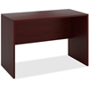"HON 10500 Srs Mahogany Laminate Office Desking - 42"" x 30"" x 60"" - Square Edge - Material: Wood - Finish: Thermofused Laminate (TFL), Mahogany"