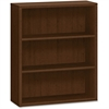 "HON 10500 Series 3-Shelf Bookcase - 36"" x 13.1"" x 43.4"" - 3 Shelve(s) - Square Edge - Material: Wood Grain, Wood - Finish: Mahogany, Mocha Laminate"