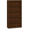 "HON 10500 Srs Mocha Laminate Furniture Components - 36"" x 13.1"" x 71"" - 5 Shelve(s) - Square Edge - Material: Wood, Wood Grain - Finish: Mahogany, Mocha Laminate"