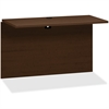 "HON 10500 Series Bridge - 47"" x 23.9"" x 29.5"", Edge, 47"" x 24"" Work Surface - Square Edge - Material: Wood, Particleboard Modesty Panel - Finish: Thermofused Laminate (TFL), Mahogany, Mocha"