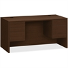 """HON 10500 Srs Mocha Laminate Furniture Components - 60"""" x 30"""" x 29.5"""", Edge, 60"""" x 30"""" Work Surface - 2 x File Drawer(s), Box Drawer(s) - Double Pedestal - Material: Wood, Particleboard Modesty Panel,"""